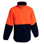 2 Tone Hi Vis Half Zip Neck Fleece