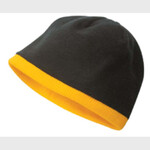Polar fleece low cut toque/contrast french roll piping