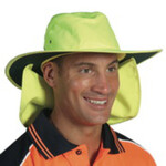Hivis hat with flap