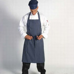 Pinstrip Full Bib Apron No Pocket