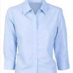 POPLIN SHIRT- Ladies 3/4 sleeve