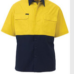 2 TONE COOL LIGHTWEIGHT DRILL SHIRT - SHORT SLEEVE
