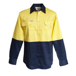 HiVis Cotton Drill Shirt (LS)