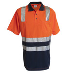 Micromesh Polo Shirt with Reflective Tape, Short Sleeve