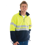 HiVis Two Tone 1/2 Zip Polar Fleece with Reflective Tape