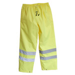 Hi Vis breathable Rain Trousers with reflective tape