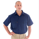 Cotton Drill Work Shirt (short sleeves)