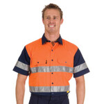 HiVis Cotton Drill Shirt with Tape