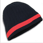 Acrylic Knit Toque with Contrast Colour Stripe