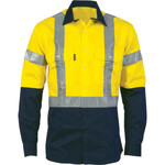 Hi Vis Cotton drill shirt with tape