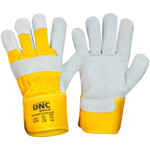 Yellow Grey Leather Glove