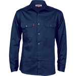 Cotton Drill Work Shirt (long  sleeves)
